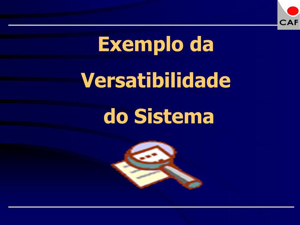 Exemplo da Versatibilidade do Sistema
