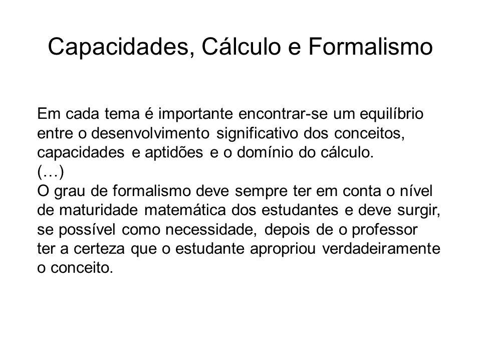 Capacidades, Cálculo e Formalismo