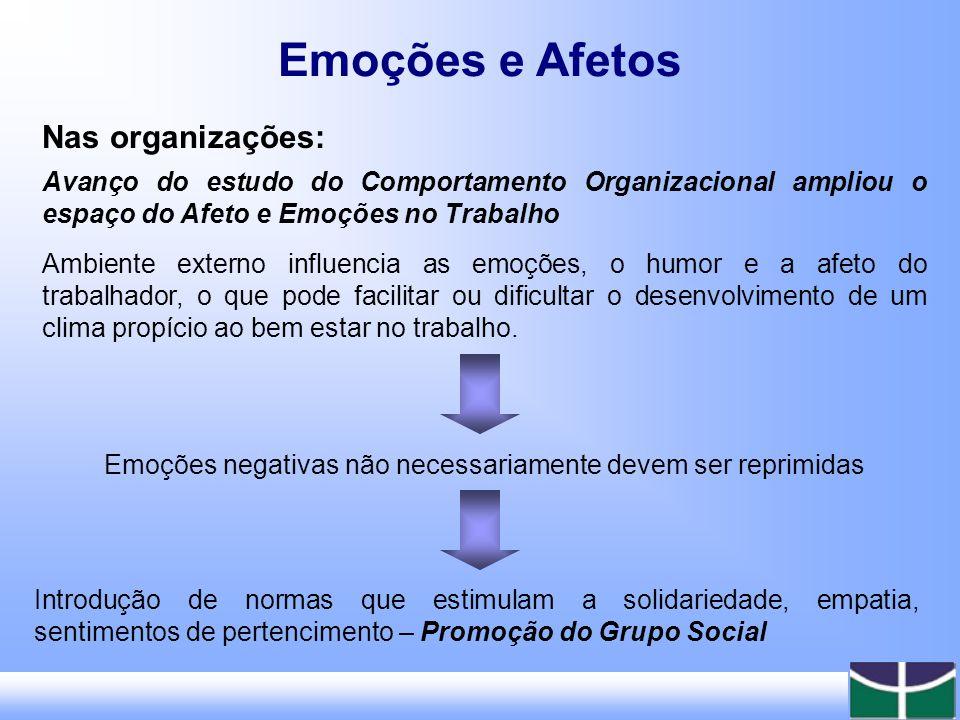 Emoções e Afetos Nas organizações: