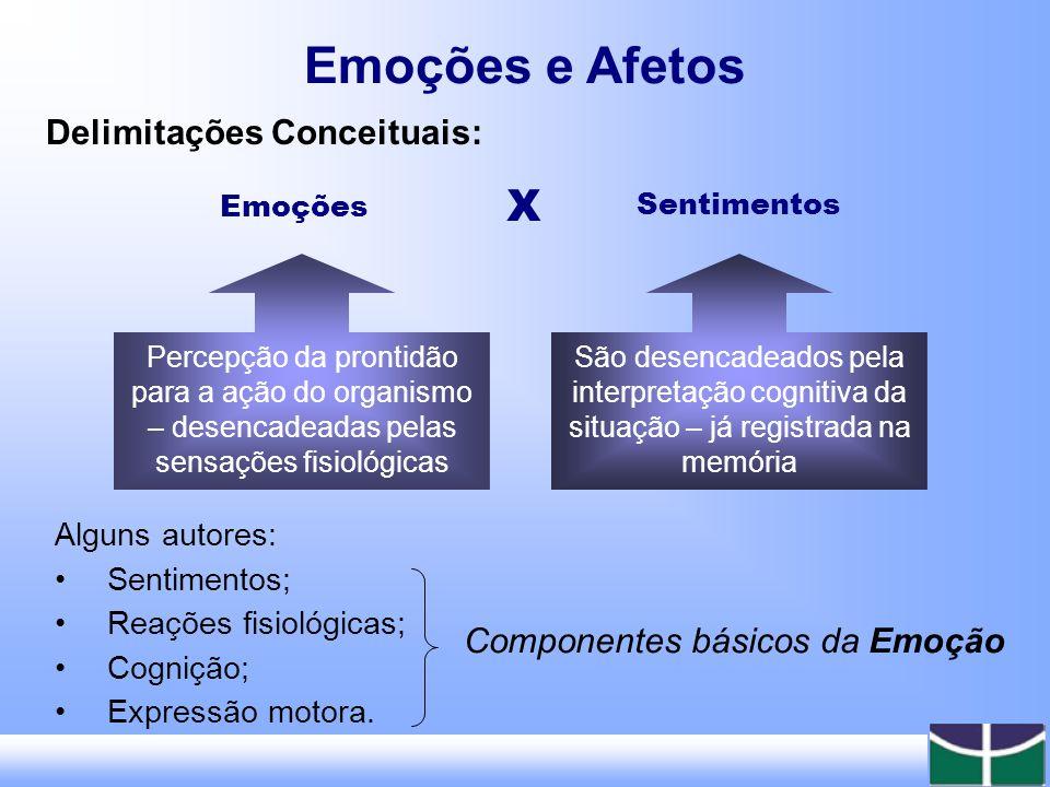Emoções e Afetos X Delimitações Conceituais: