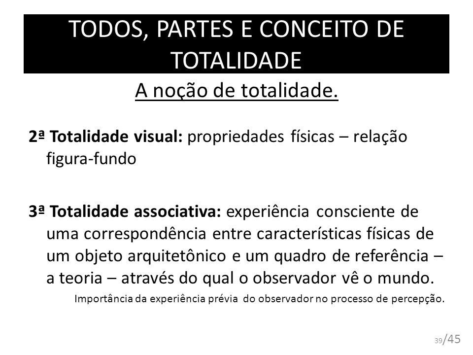 TODOS, PARTES E CONCEITO DE TOTALIDADE