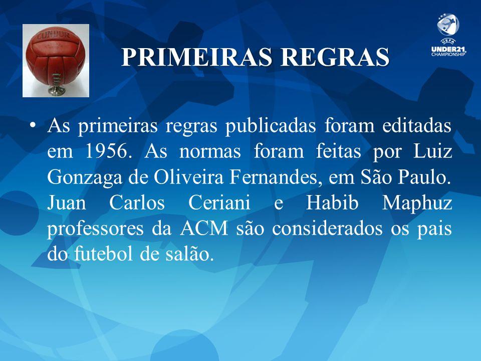 PRIMEIRAS REGRAS
