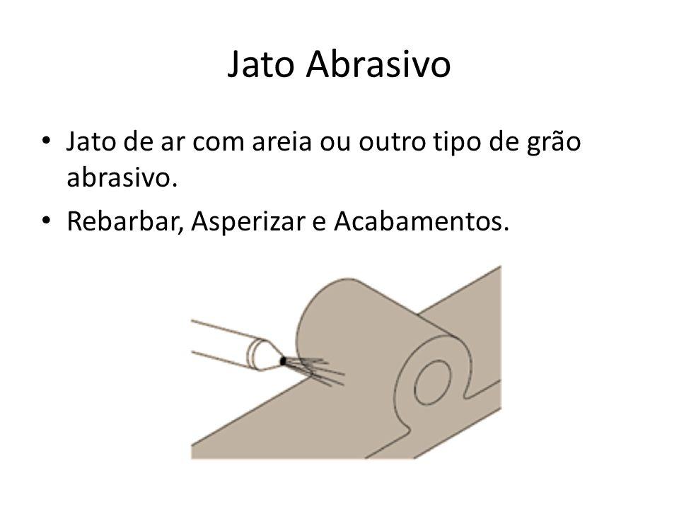 Jato Abrasivo Jato de ar com areia ou outro tipo de grão abrasivo.