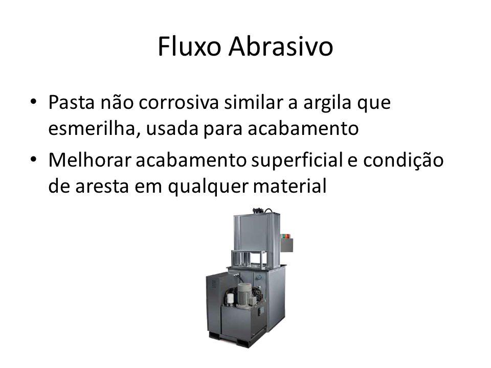 Fluxo Abrasivo Pasta não corrosiva similar a argila que esmerilha, usada para acabamento.