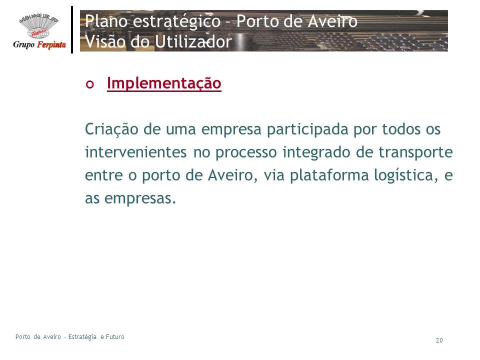Plano estratégico – Porto de Aveiro Visão do Utilizador