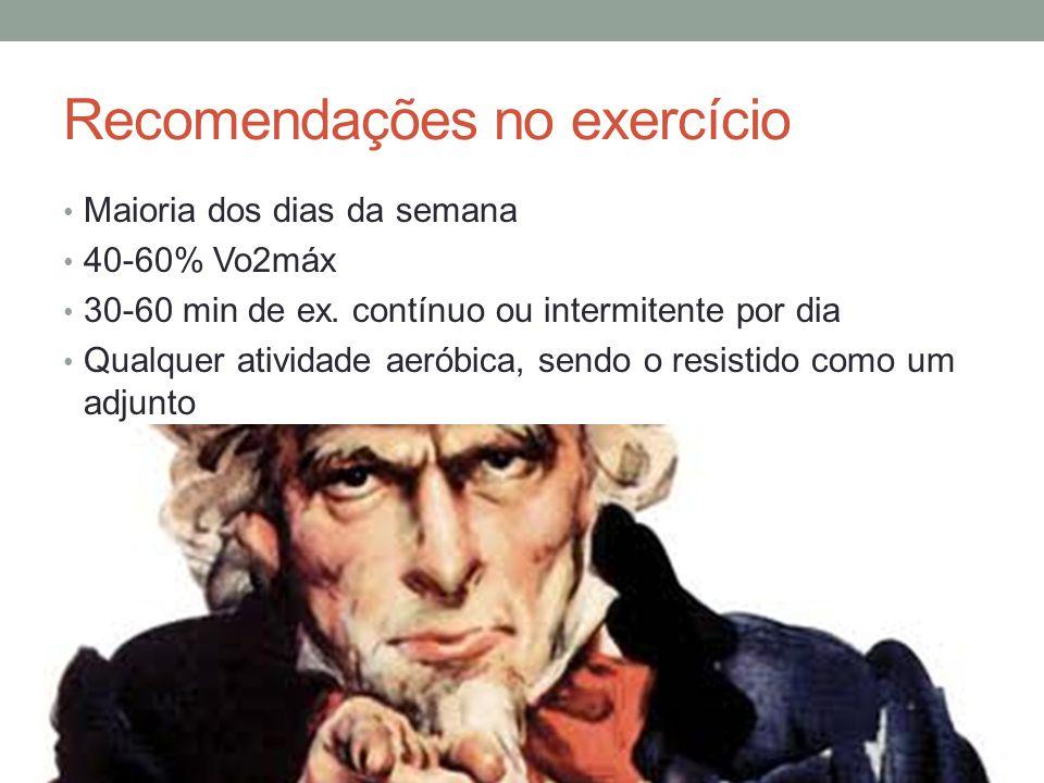 Recomendações no exercício