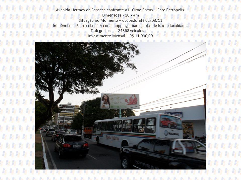 Avenida Hermes da Fonseca confronte a L. Cirne Pneus – Face Petrópolis