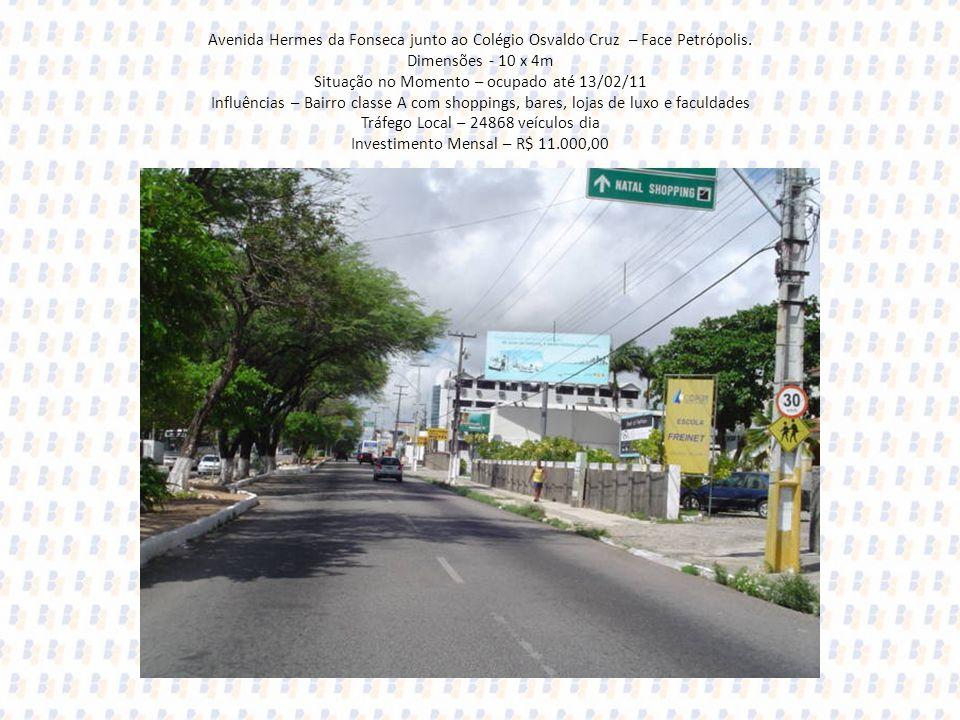 Avenida Hermes da Fonseca junto ao Colégio Osvaldo Cruz – Face Petrópolis.