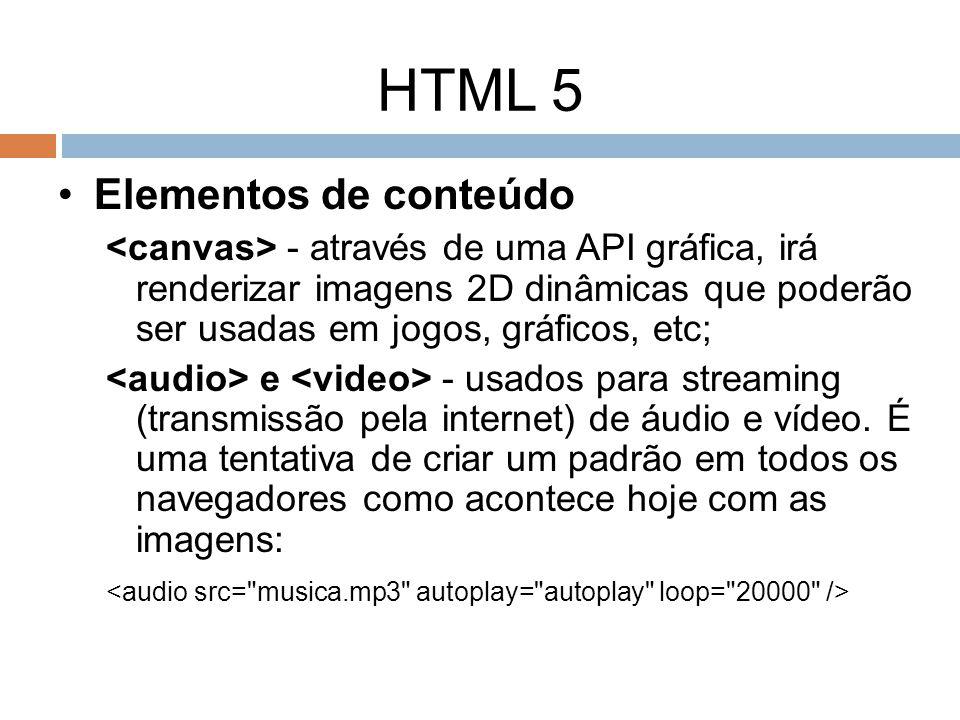 HTML 5 Elementos de conteúdo