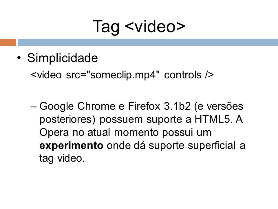 Tag <video> Simplicidade