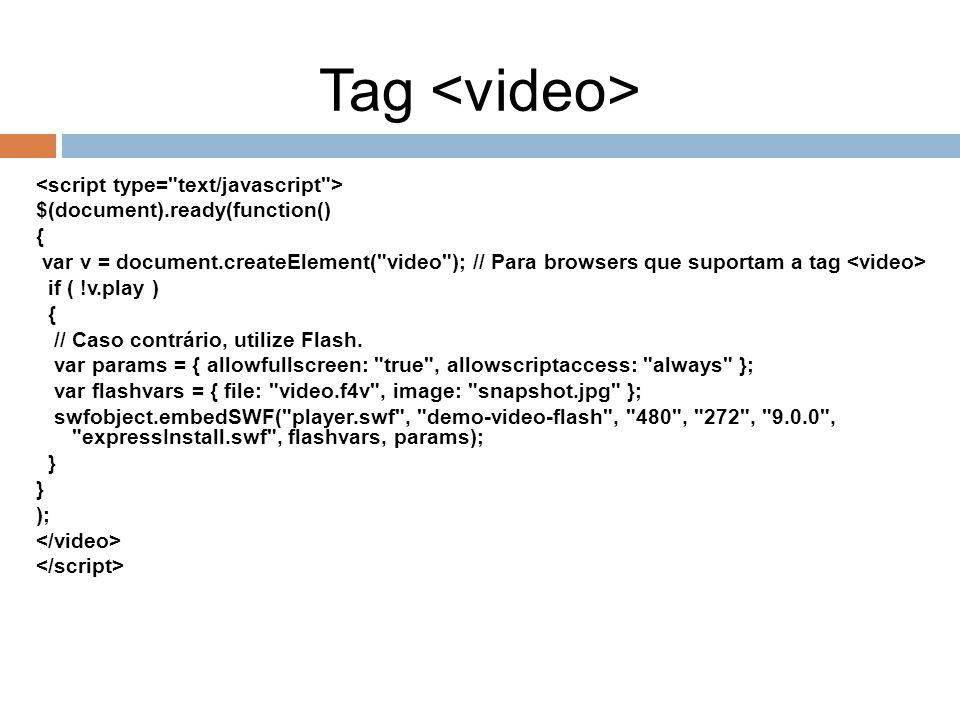 Tag <video> <script type= text/javascript >