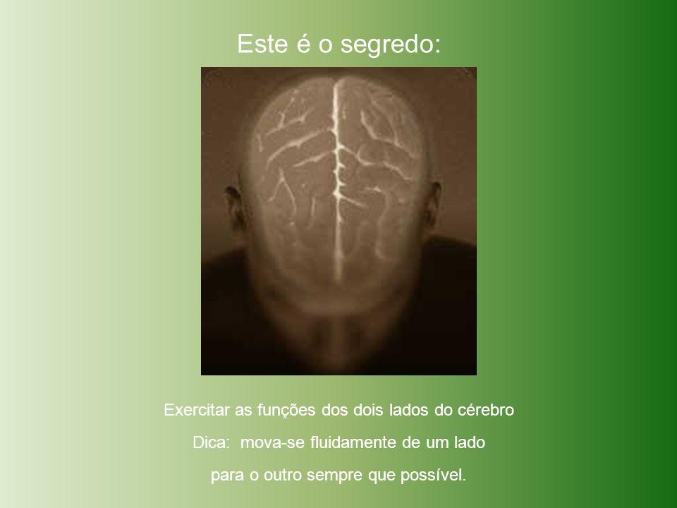 Este é o segredo: Exercitar as funções dos dois lados do cérebro