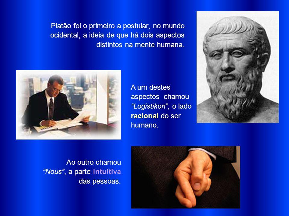 Platão foi o primeiro a postular, no mundo ocidental, a ideia de que há dois aspectos distintos na mente humana.