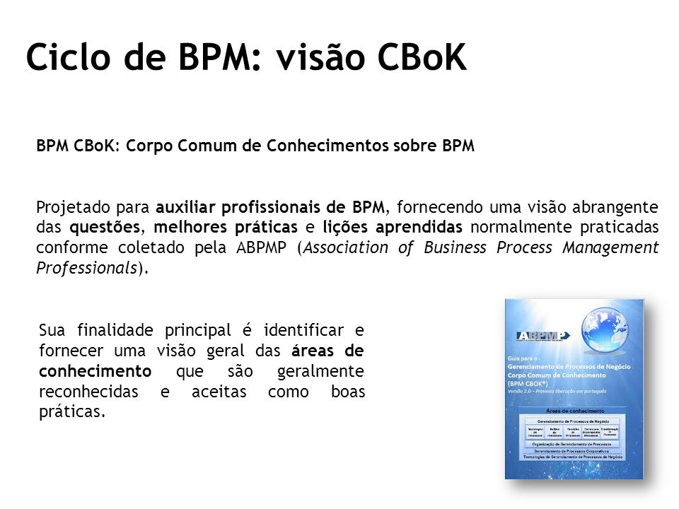 Ciclo de BPM: visão CBoK