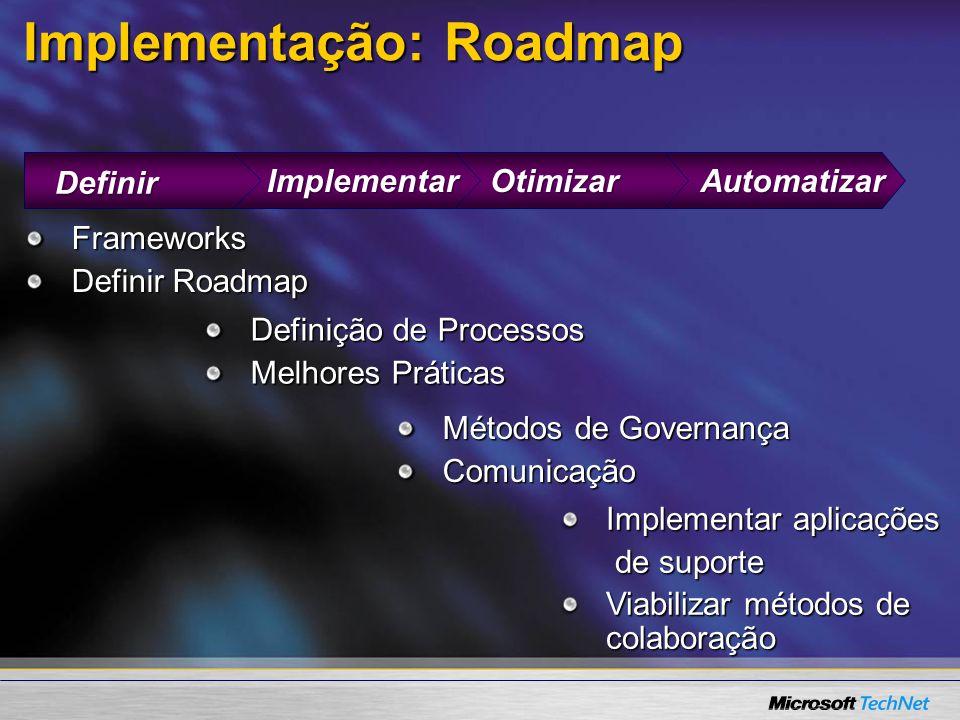 Implementação: Roadmap