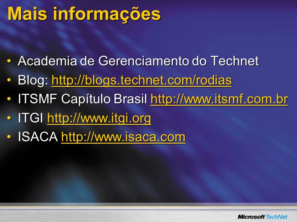 Mais informações Academia de Gerenciamento do Technet