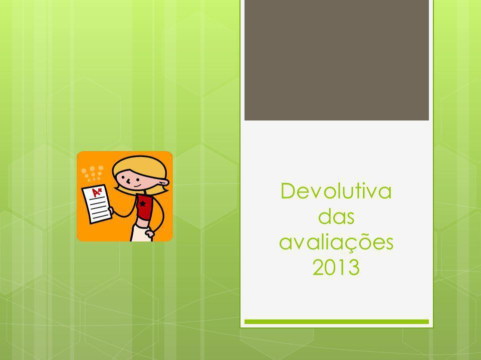 Devolutiva das avaliações 2013