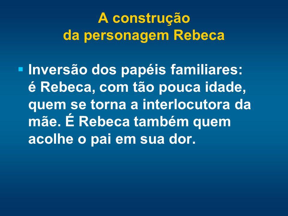 A construção da personagem Rebeca.