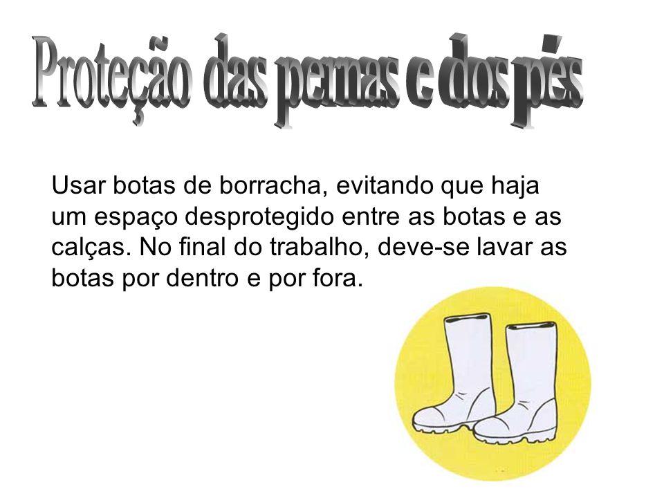 Proteção das pernas e dos pés