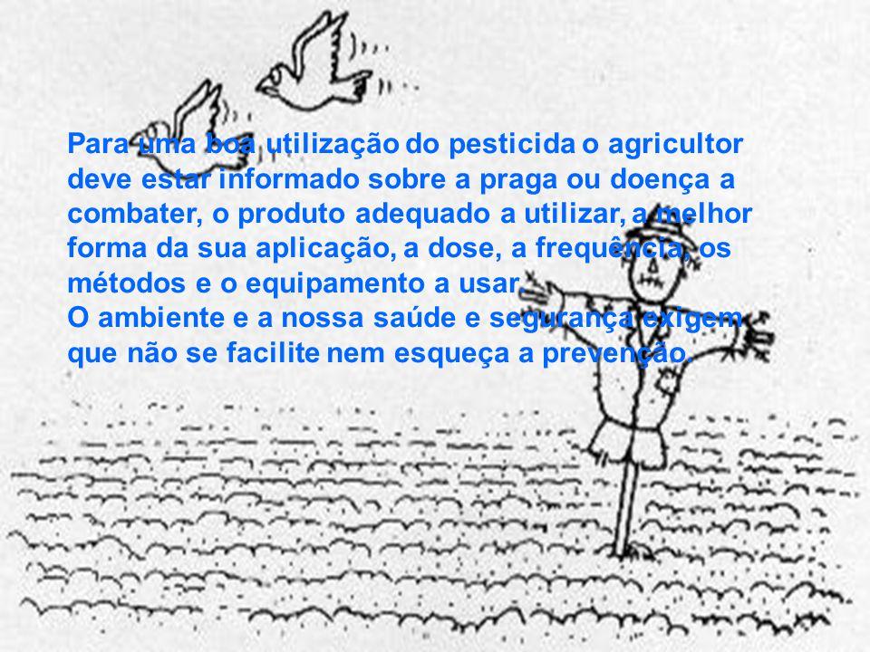 Para uma boa utilização do pesticida o agricultor deve estar informado sobre a praga ou doença a combater, o produto adequado a utilizar, a melhor forma da sua aplicação, a dose, a frequência, os métodos e o equipamento a usar.