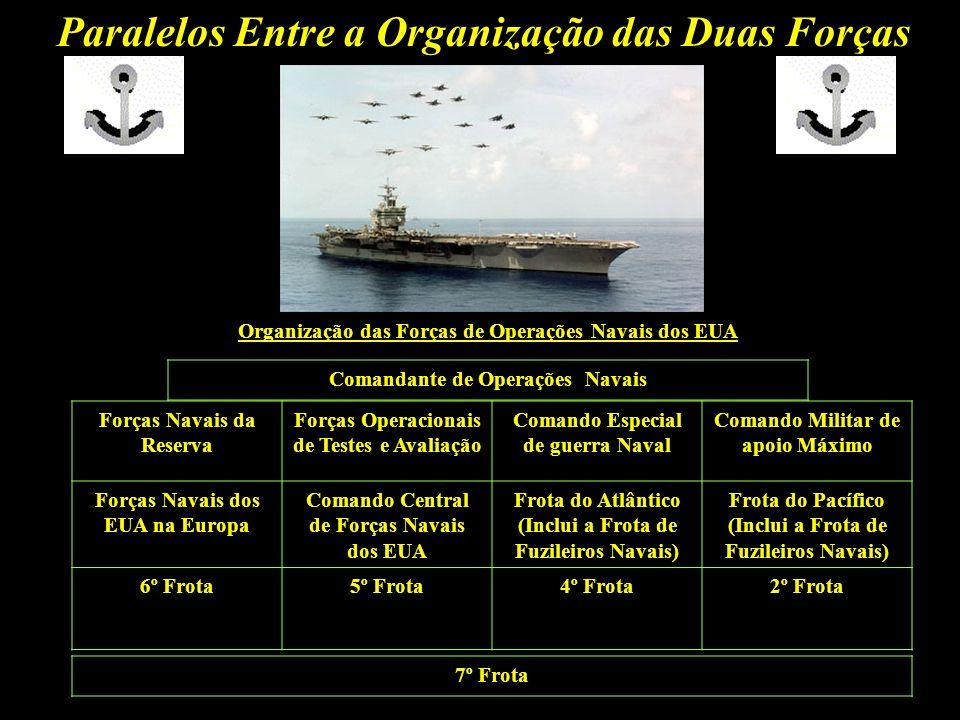 Paralelos Entre a Organização das Duas Forças