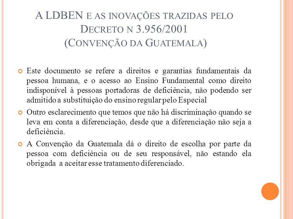 A LDBEN e as inovações trazidas pelo Decreto n 3