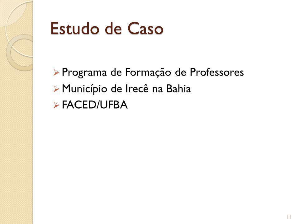 Estudo de Caso Programa de Formação de Professores