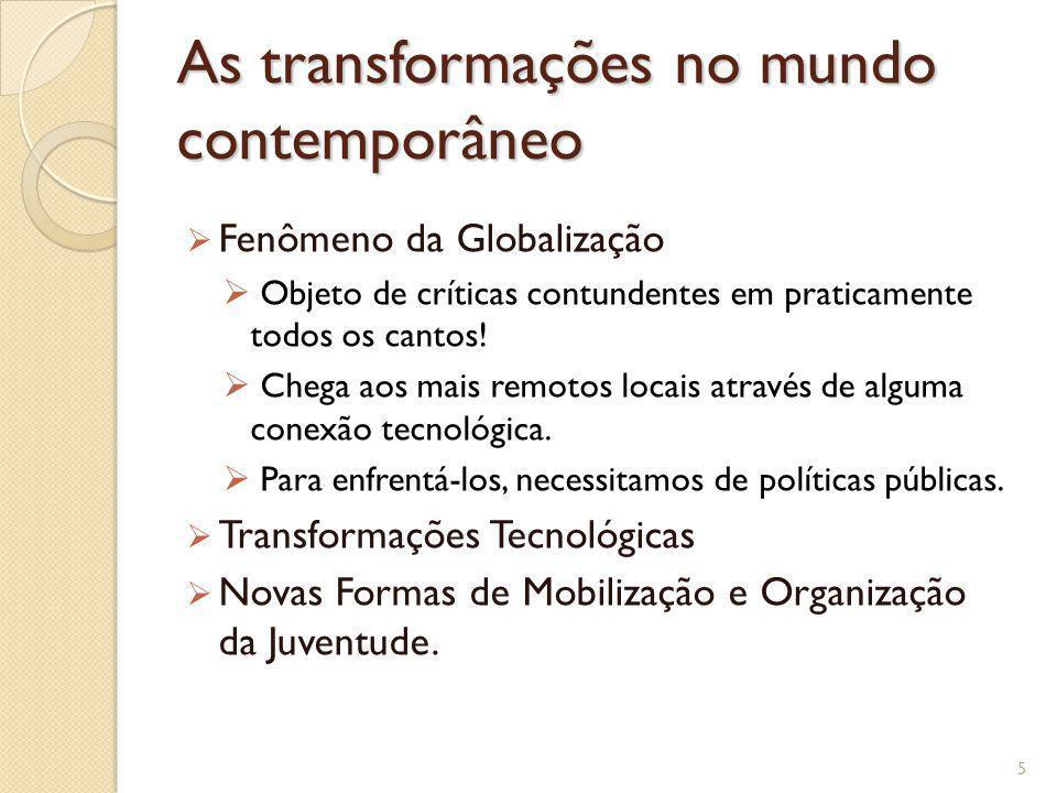 As transformações no mundo contemporâneo