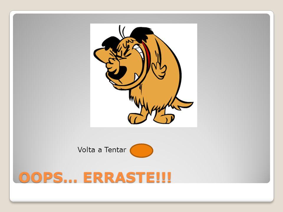 Volta a Tentar OOPS… ERRASTE!!!