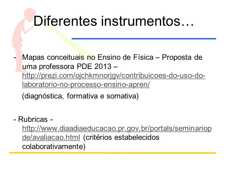 Diferentes instrumentos…
