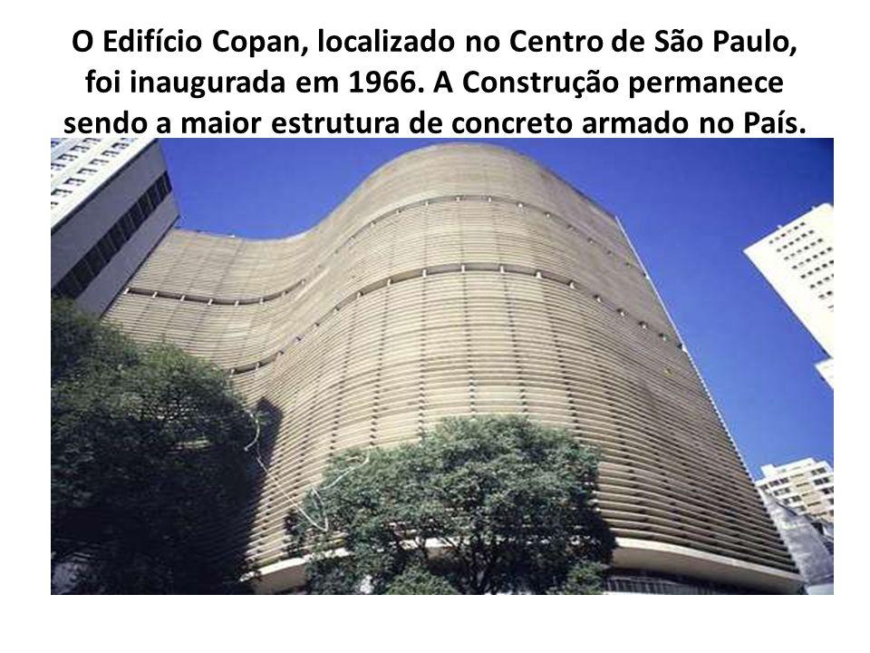O Edifício Copan, localizado no Centro de São Paulo, foi inaugurada em 1966.