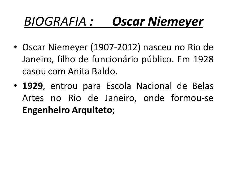BIOGRAFIA : Oscar Niemeyer