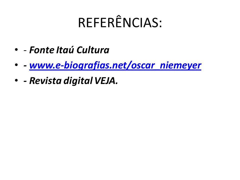 REFERÊNCIAS: - Fonte Itaú Cultura