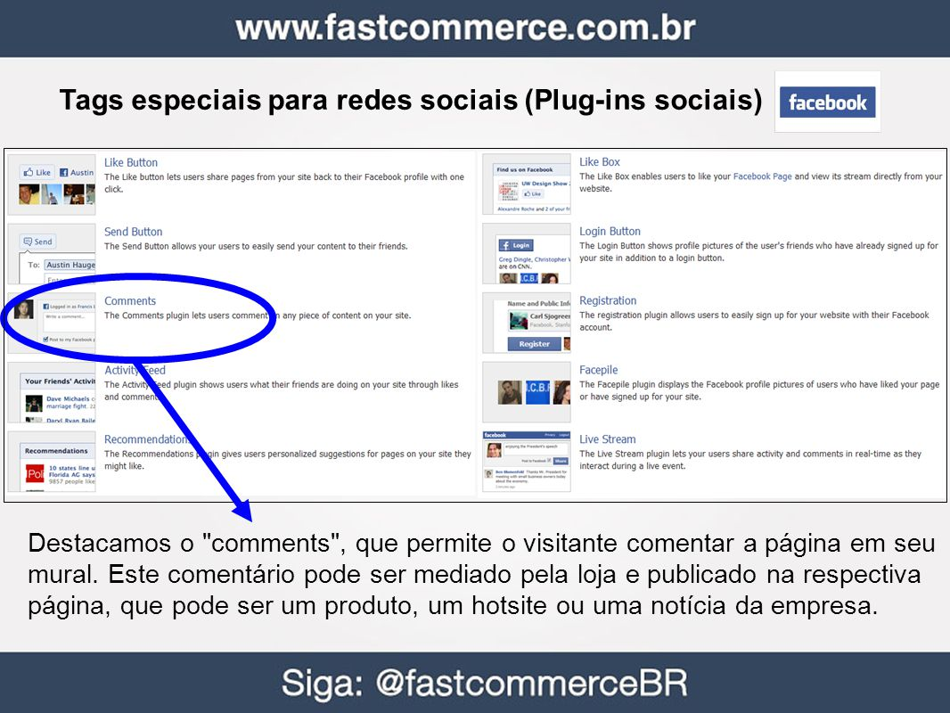 Tags especiais para redes sociais (Plug-ins sociais)