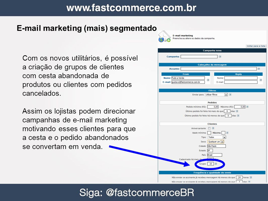 E-mail marketing (mais) segmentado