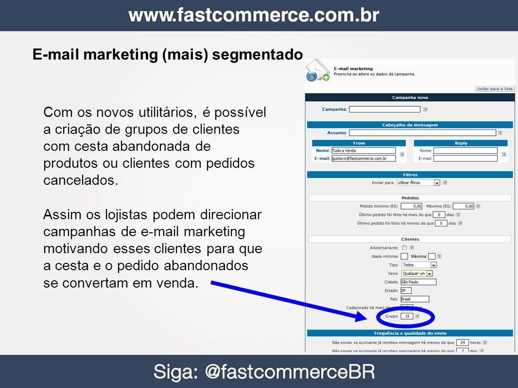 E-mail marketing (mais) segmentado
