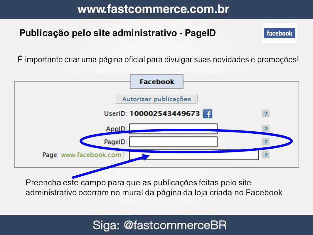 Publicação pelo site administrativo - PageID