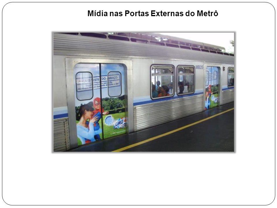 Mídia nas Portas Externas do Metrô