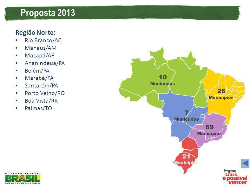 Proposta 2013 Região Norte: Rio Branco/AC Manaus/AM Macapá/AP