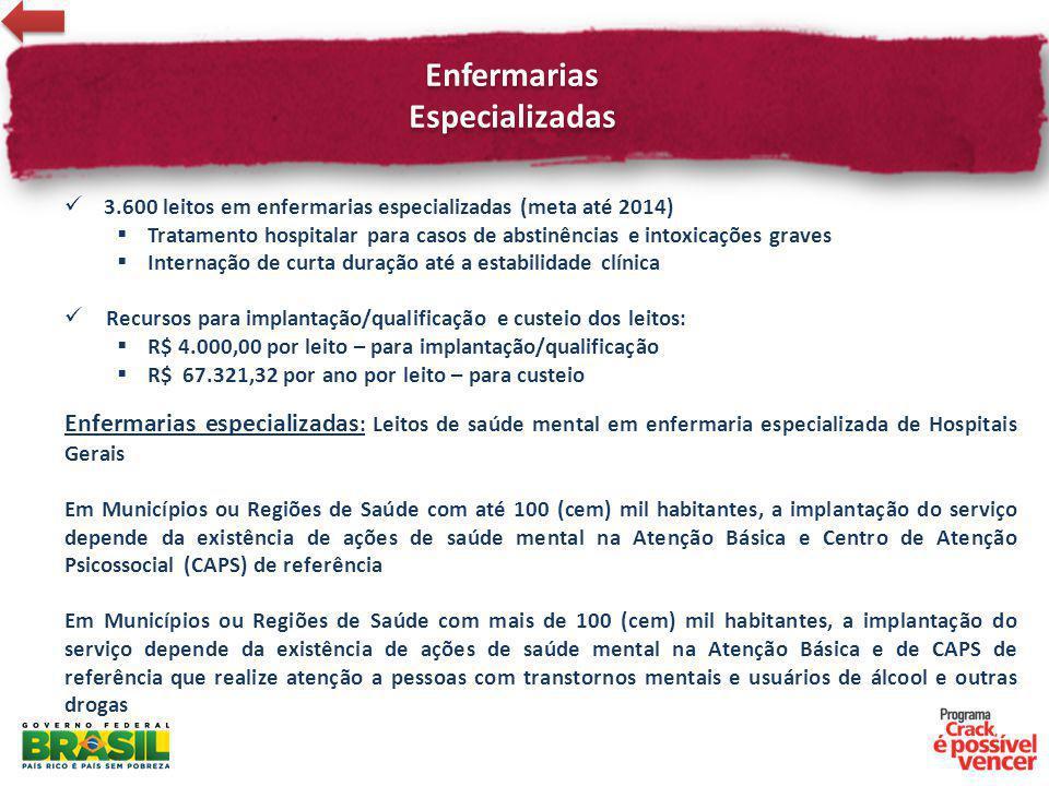 Enfermarias Especializadas