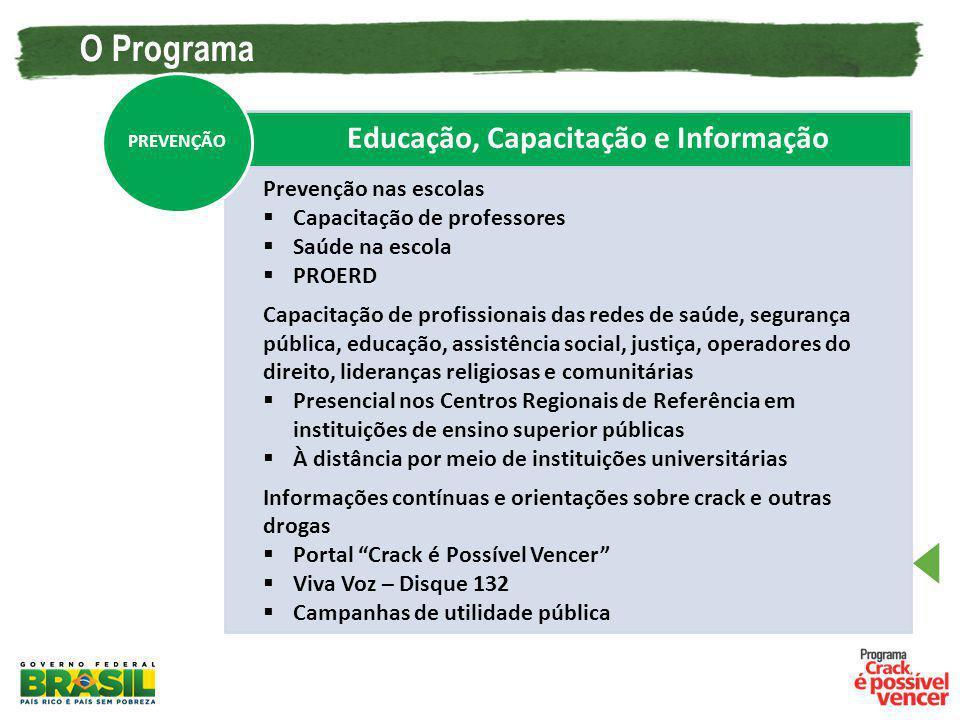 Educação, Capacitação e Informação