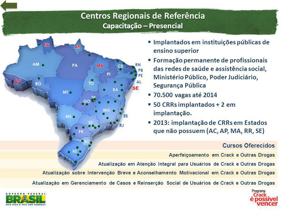 Centros Regionais de Referência Capacitação – Presencial