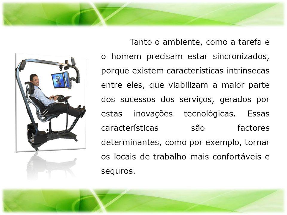 Tanto o ambiente, como a tarefa e o homem precisam estar sincronizados, porque existem características intrínsecas entre eles, que viabilizam a maior parte dos sucessos dos serviços, gerados por estas inovações tecnológicas.