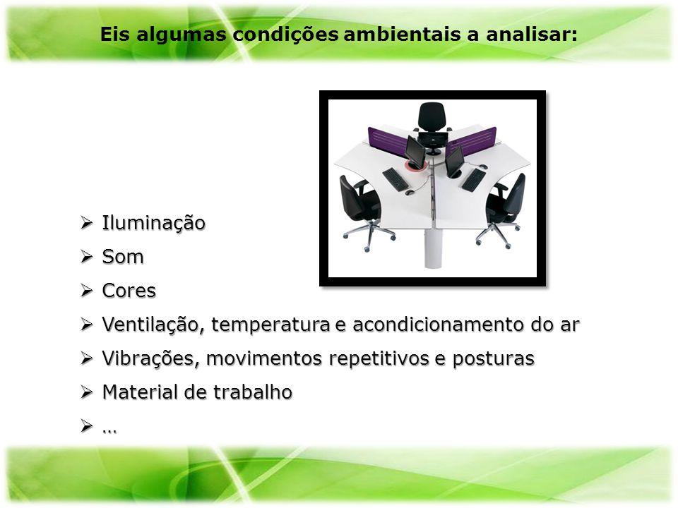 Eis algumas condições ambientais a analisar: