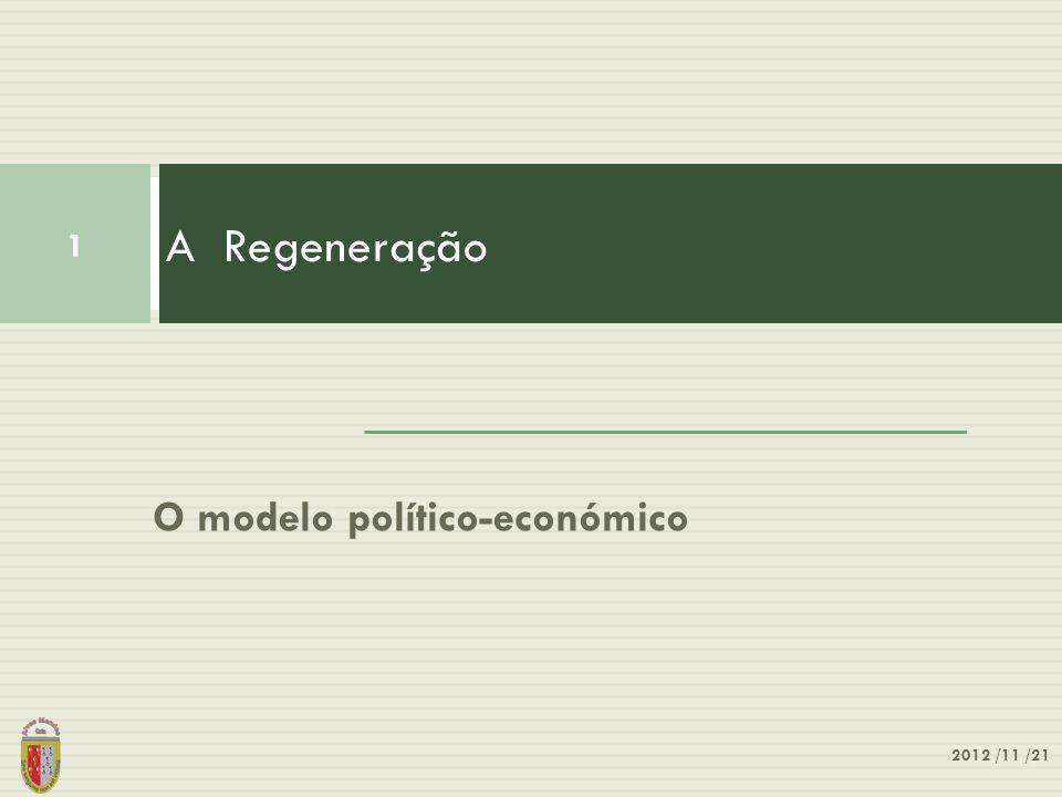 A Regeneração O modelo político-económico 2012 /11 /21