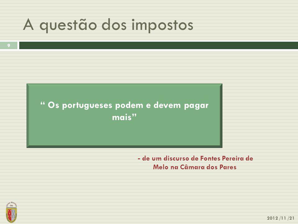 A questão dos impostos Os portugueses podem e devem pagar mais