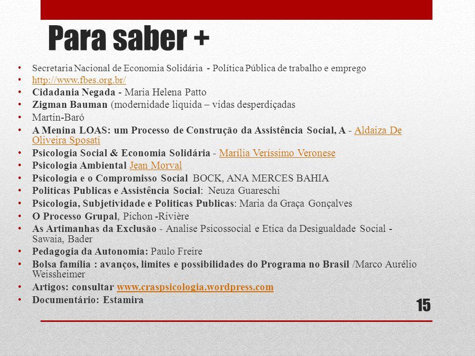 Para saber + Cidadania Negada - Maria Helena Patto