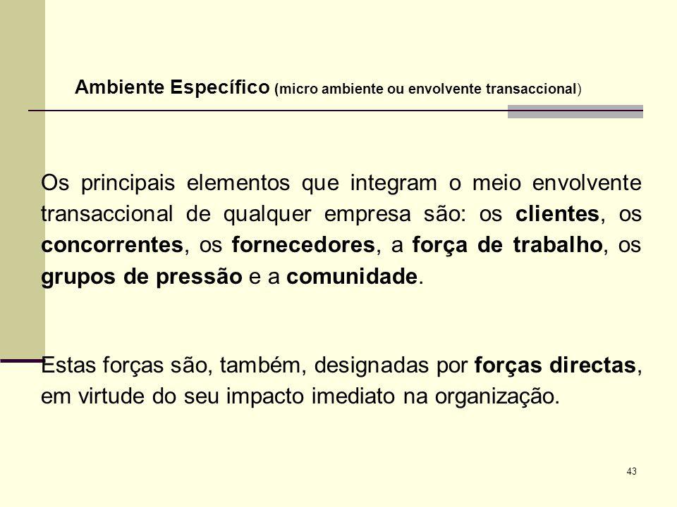 Ambiente Específico (micro ambiente ou envolvente transaccional)