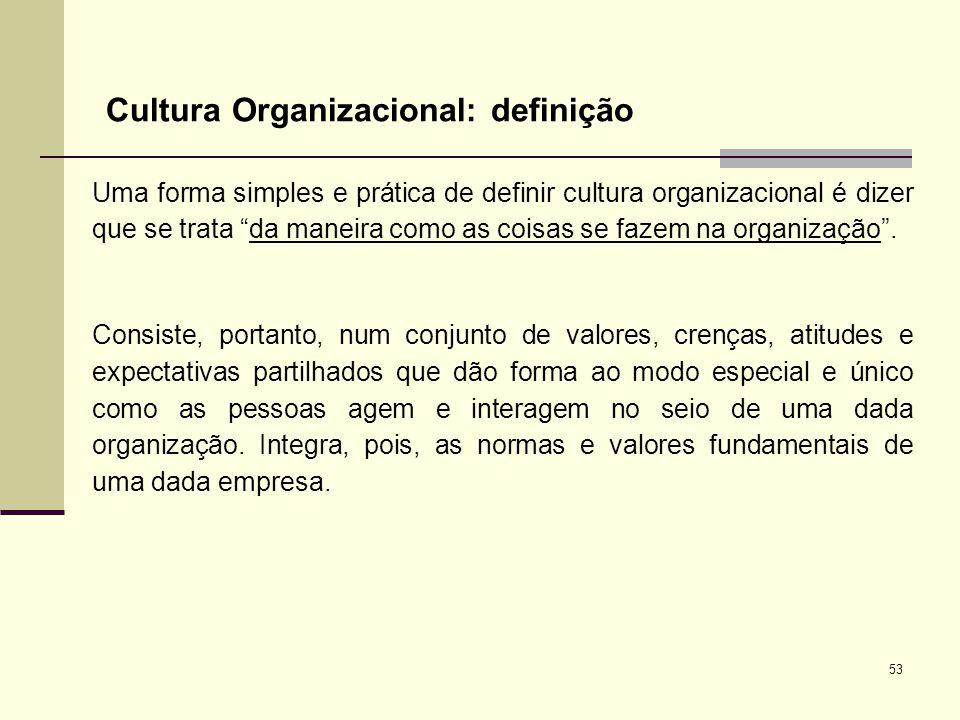 Cultura Organizacional: definição