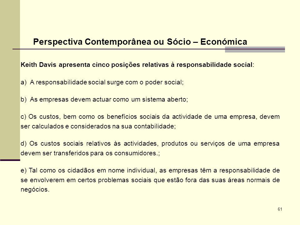 Perspectiva Contemporânea ou Sócio – Económica